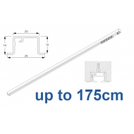 6465 & 6465 Wave Hand Operated, recess systems (White only) up to 175cm Complete