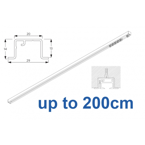 6465 & 6465 Wave Hand Operated, recess systems (White only) up to 200cm Complete