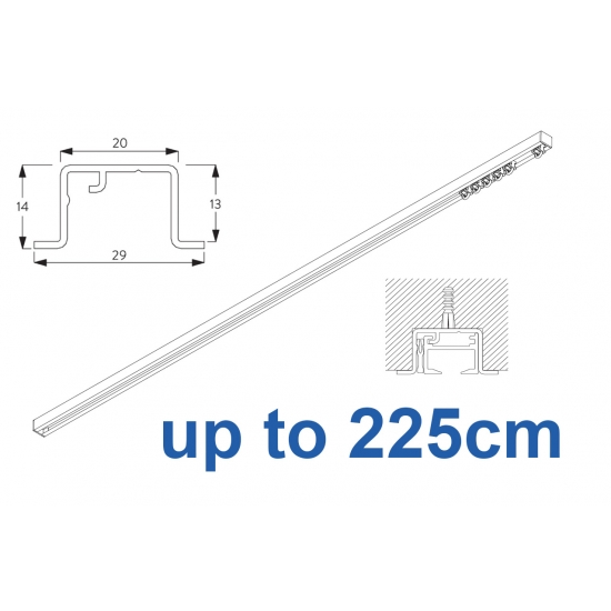 6465 & 6465 Wave Hand Operated, recess systems (White only) up to 225cm Complete
