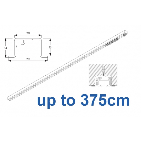 6465 & 6465 Wave Hand Operated, recess systems (White only) up to 375cm Complete