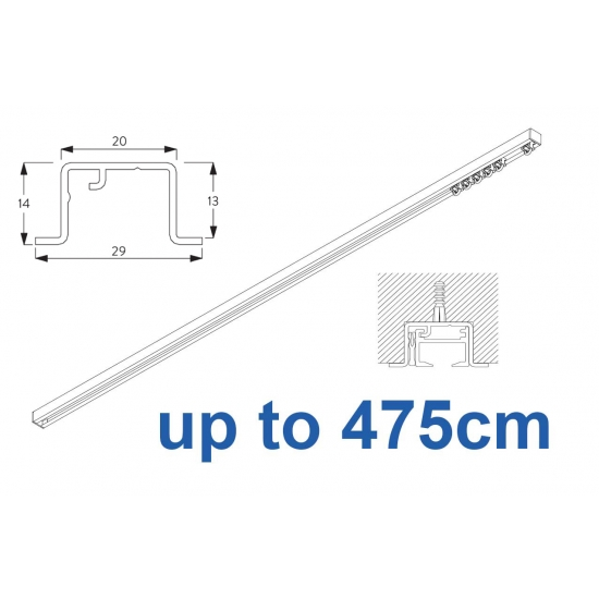 6465 & 6465 Wave Hand Operated, recess systems (White only) up to 475cm Complete