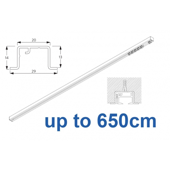 6465 & 6465 Wave Hand Operated, recess systems (White only) up to 650cm Complete