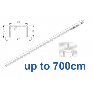 6465 & 6465 Wave Hand Operated, recess systems (White only) up to 700cm Complete
