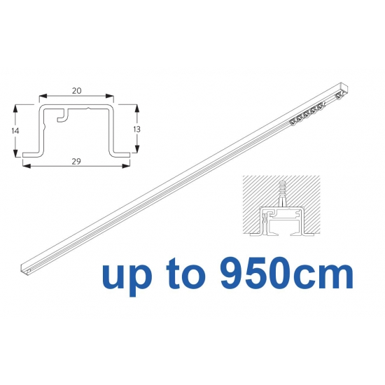 6465 & 6465 Wave Hand Operated, recess systems (White only) up to 950cm Complete
