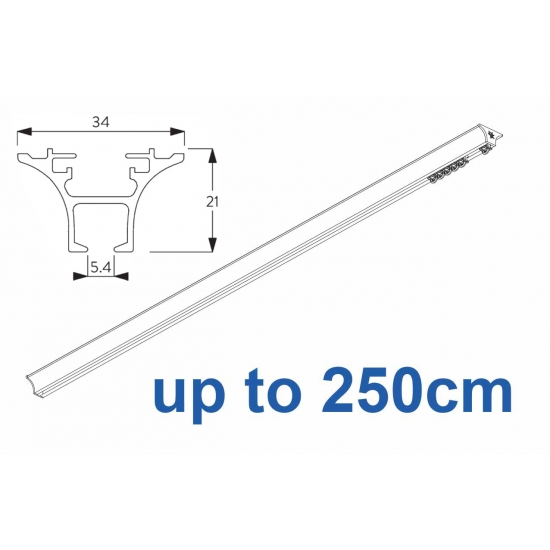6820 Hand operated & 6820 Wave hand operated (White only) up to 250cm Complete