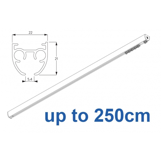6840 & 6840 Wave (previously known as 3840) Hand operated Silver or White 250cm Complete