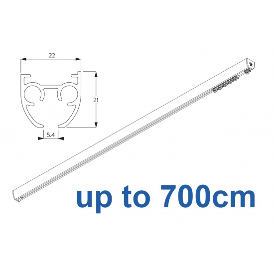 6840 & 6840 Wave (previously known as 3840) Hand operated Silver or White 700cm Complete