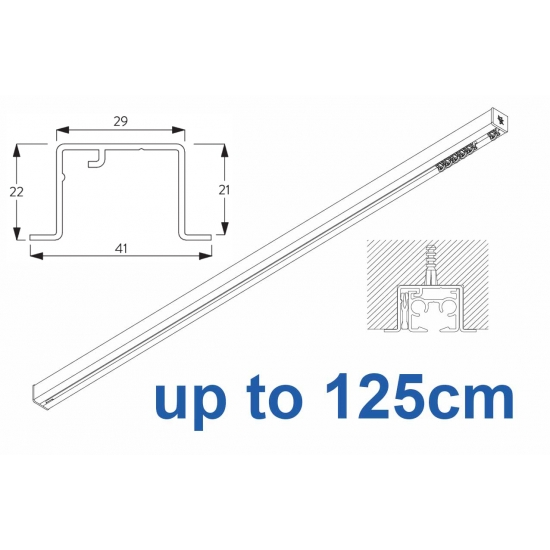 6870 & 6870 Wave Hand Operated, recess systems (White only) up to 125cm Complete