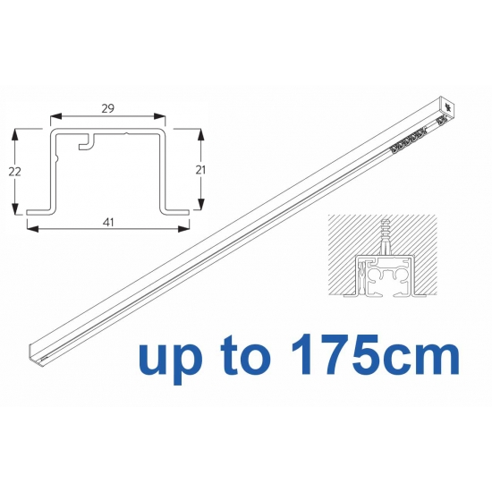 6870 & 6870 Wave Hand Operated, recess systems (White only) up to 175cm Complete