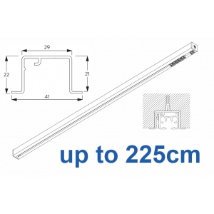 6870 & 6870 Wave Hand Operated, recess systems (White only) up to 225cm Complete