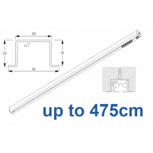 6870 & 6870 Wave Hand Operated, recess systems (White only) up to 475cm Complete