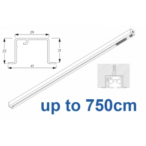 6870 & 6870 Wave Hand Operated, recess systems (White only) up to 750cm Complete