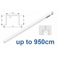 6870 & 6870 Wave Hand Operated, recess systems (White only) up to 950cm Complete