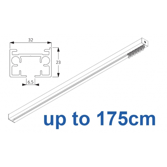 6970 & 6970 Wave Hand operated Silver or White, up to 175cm Complete