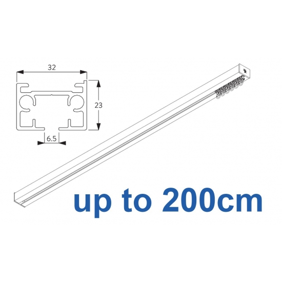 6970 & 6970 Wave Hand operated Silver or White 200cm Complete