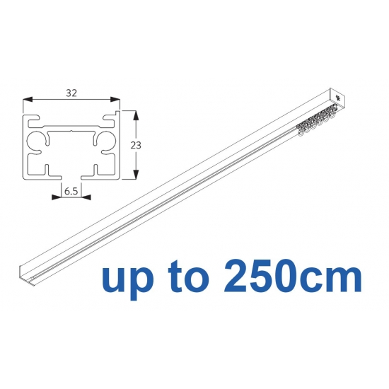 6970 & 6970 Wave Hand operated Silver or White  250cm Complete