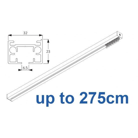 6970 & 6970 Wave Hand operated Silver or White 275cm Complete