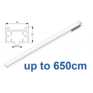 6970 & 6970 Wave Hand operated Silver or White, up to 650cm Complete