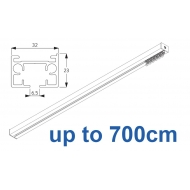 6970 & 6970 Wave Hand operated Silver or White, up to 700cm Complete