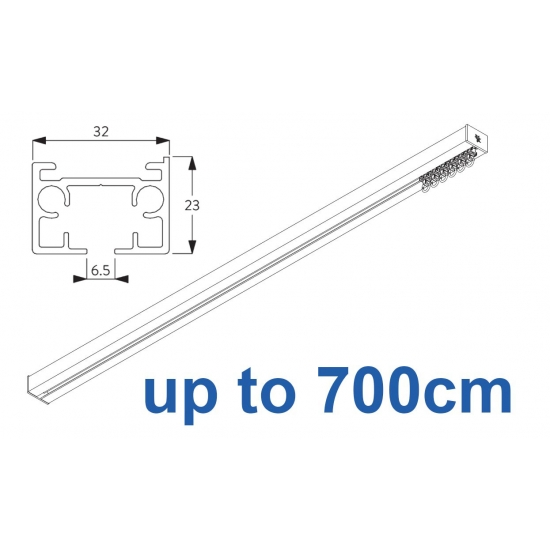 6970 & 6970 Wave Hand operated Silver or White 700cm Complete