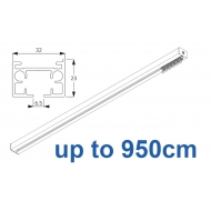 6970 & 6970 Wave Hand operated Silver or White, up to 950cm Complete
