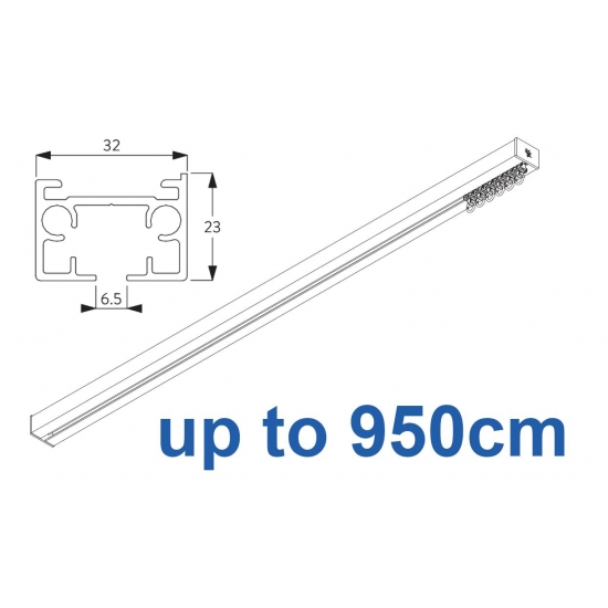 6970 & 6970 Wave Hand operated Silver or White 950cm Complete