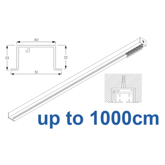 6970 & 6970 Wave Hand Operated, recess systems (White only) up to 1000cm Complete