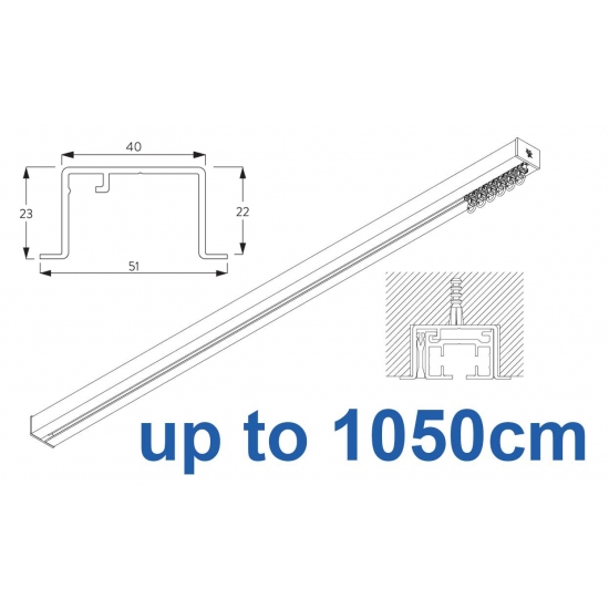 6970 & 6970 Wave Hand Operated, recess systems (White only) up to 1050cm Complete