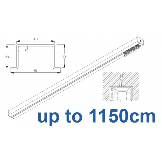 6970 & 6970 Wave Hand Operated, recess systems (White only) up to 1150cm Complete