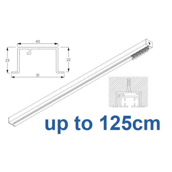 6970 & 6970 Wave Hand Operated, recess systems (White only) up to 125cm Complete