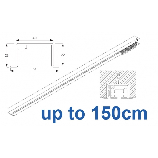 6970 & 6970 Wave Hand Operated, recess systems (White only) up to 150cm Complete