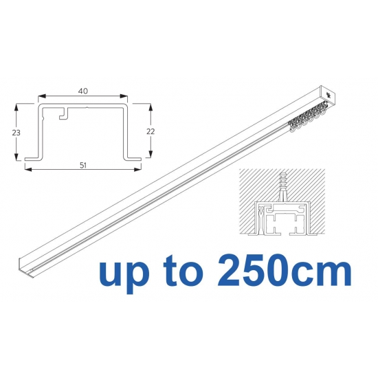 6970 & 6970 Wave Hand Operated, recess systems (White only) up to 250cm Complete