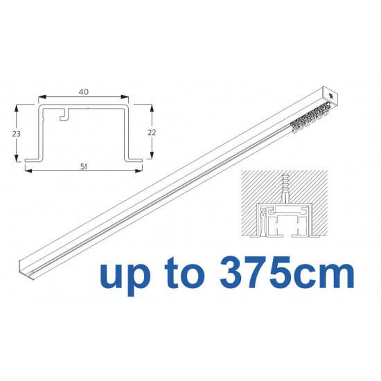 6970 & 6970 Wave Hand Operated, recess systems (White only) up to 375cm Complete