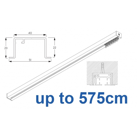 6970 & 6970 Wave Hand Operated, recess systems (White only) up to 575cm Complete