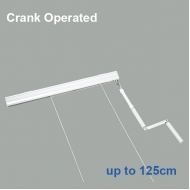 Elite Crank Operated Roman Blind system up to 125cm Complete