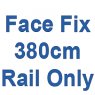 380cm Discreet Face Fix rail only