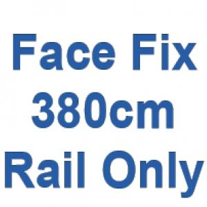 380cm Discreet Face Fix rail only