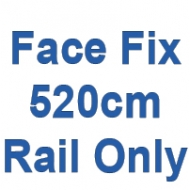 520cm Discreet Face Fix rail only