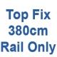 380cm Discreet Top Fix rail only