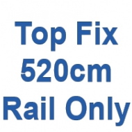 520cm Discreet Top Fix rail only