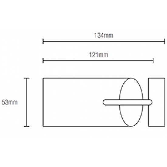 Fused Barrel 121mm Finial for 50mm pole (Each)