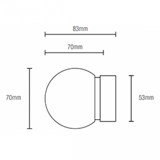 Glass Ball 69mm Finial for 50mm pole (Each)