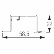 Recess Profile 2 channel white