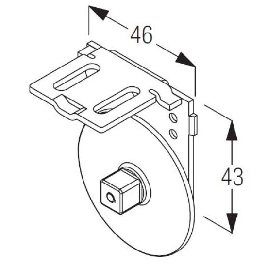 Support bracket drive side