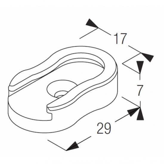 Double base short (side guide)