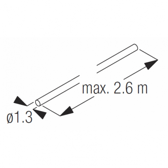 Wire  1.3mm x 2.6m (side guide) (Each)