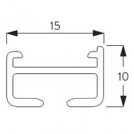 1071 Rail ONLY White (per metre)