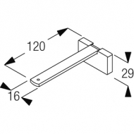 Square Smart fix 120mm Bracket Set in White and Silver (Each) (made up of parts 11142 + 11137)