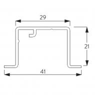 Recess Profile white only (per metre)