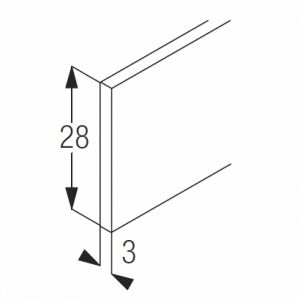 Aluminium weight bar  28mm (4 metre length only)